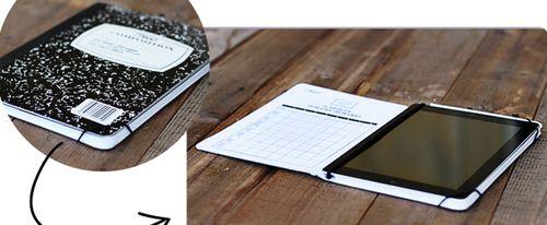 É muito barato fazer este porta-tablet (Foto: lilblueboo.com)