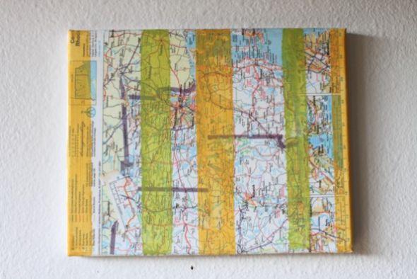 Aposte neste diferente quadro de mapas para renovar o décor de seu lar (Foto: trashycrafter.com)
