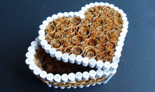 Caixa de coração de quilling é também ótima opção para ganhar uma renda extra (Foto: instructables.com)