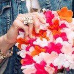 Clutch com Flores de Feltro Passo a Passo