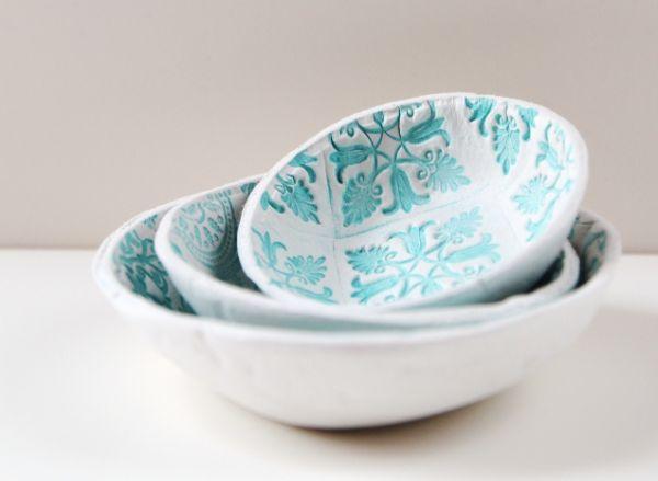 Tigela de argila é linda e fácil de ser feita (Foto: gatheringbeauty.com)