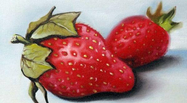 Pintar um morango pode diferenciar o seu cômodo (Foto: youtube.com)