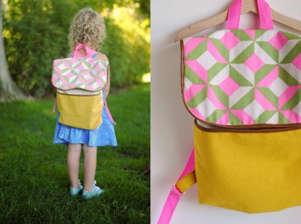 Mochila infantil de tecido é linda e as crianças adoram (Foto: hartandsew.blogspot.com.br)