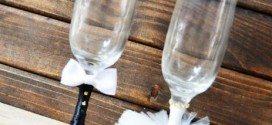 14 Ideias de como Decorar as Taças dos Noivos