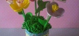 Arranjo de Flores de EVA Passo a Passo