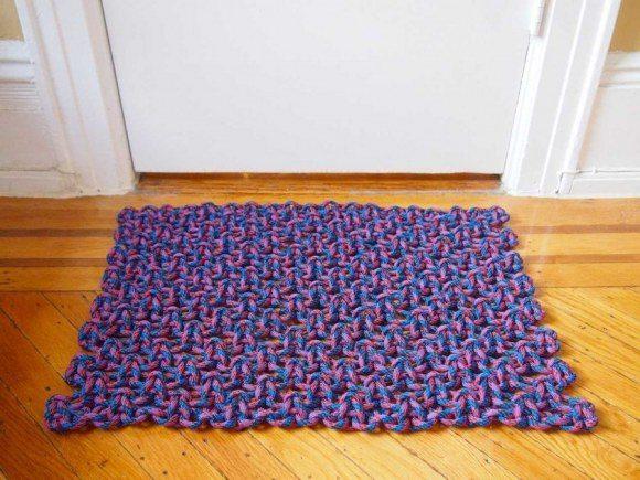 Capacho de corda é lindo e pode frequentar qualquer cômodo de seu lar (Foto: whatido.com)