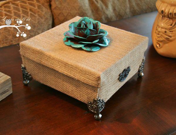 Caixinha decorativa com papelão é linda, sofisticada e faz o maior sucesso com todos (Foto: lookiewhatidid.blogspot.com.br)