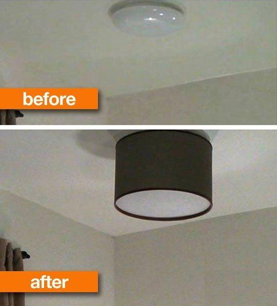 Luminária de teto artesanal é linda e renova de forma fácil o seu espaço (Foto: apartmenttherapy.com)