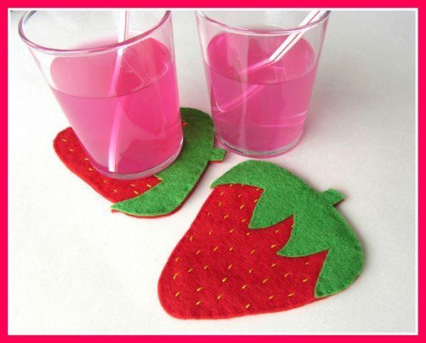 Este porta-copos de morango é divertido é fofo e fácil de ser feito (Foto: art-of-crafts.net)