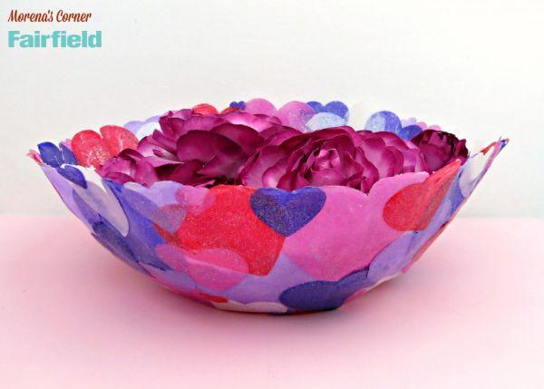 Tigela de corações de tecidos é linda e útil (Foto: fairfieldworld.com)