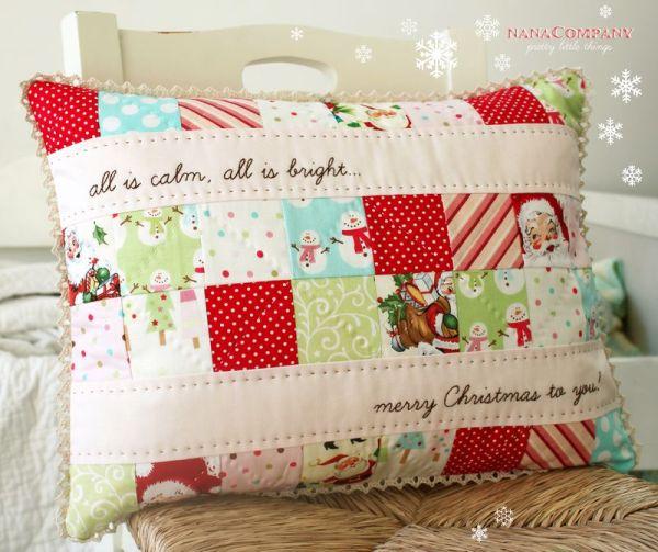 Small Quilted Gift Ideas To Make : 14 Ideias de Almofadas Feitas de Patchwork