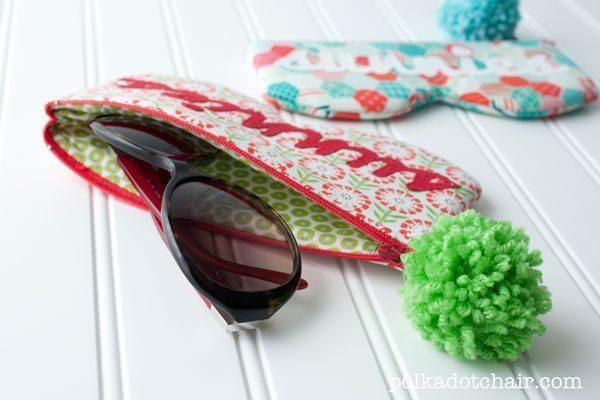 Mesmo que você não tenha experiência pode criar case para óculos fáceis de fazer, basta escolher os mais simples (Foto: polkadotchair.com)