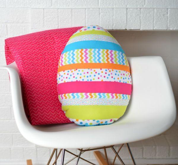 Almofada ovo de Páscoa é divertida e bem diferente (Foto: modernhandcraft.com)
