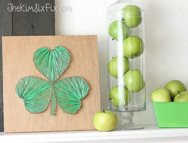 Quadro decorativo trevo da sorte é lindo e atrai boas energias (Foto: thekimsixfix.com)
