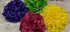4 Ideias de Flores de Papel de Seda Fáceis de Fazer