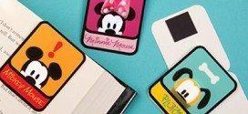 5 Moldes de Marcadores de Página Turma do Mickey