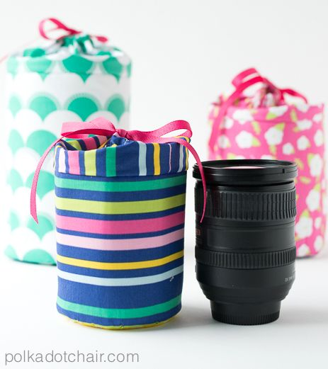 Case para lente fotográfica pode ter o seu estilo e personalidade (Foto: polkadotchair.com)