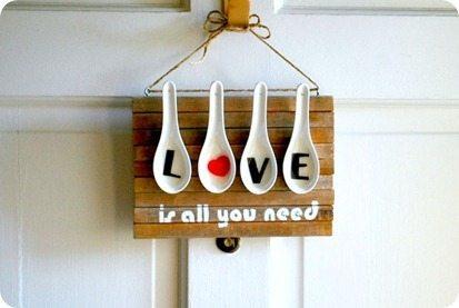 Invista nesta decoração com colheres e repagine os seus espaços (Foto: sillypearl.com)