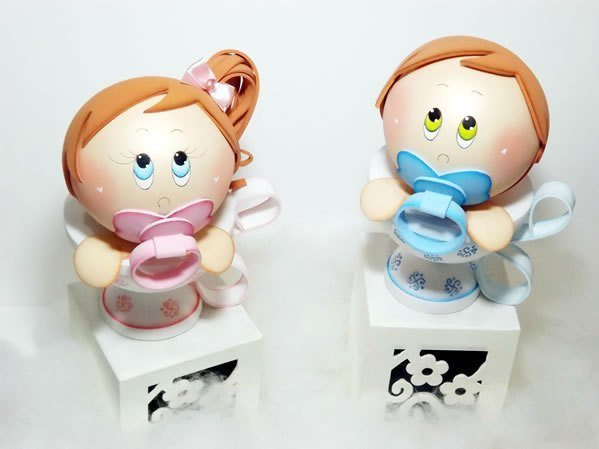 Esta fofa lembrancinha para chá de bebê ou batizado em EVA vai fazer o maior sucesso (Foto: ateliekreateva.com.br)