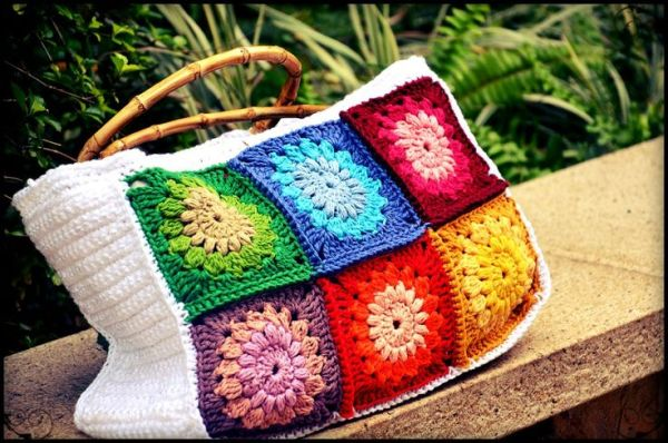 como fazer bolsa de croche