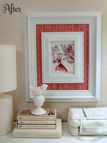 Invista neste quadro diferente e barato, para renovar o visual de sua decoração (Foto: craftynest.com)