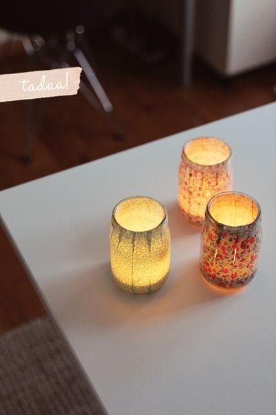 Esta barata luminária de mesa com tecido pode também ter o estilo, a cor ou a estampa de sua preferência (Foto: fellowfellow.com)