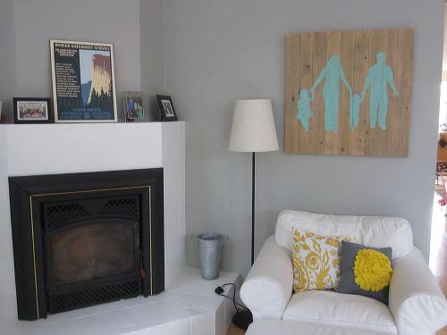 Aposte em quadro com silhueta da família em seus ambientes (Foto: shirleyandchris.net)