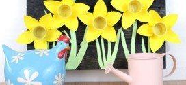 Quadro com Flores de Material Reutilizado Passo a Passo