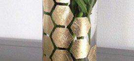 Vaso Decorado Folha de Ouro Passo a Passo