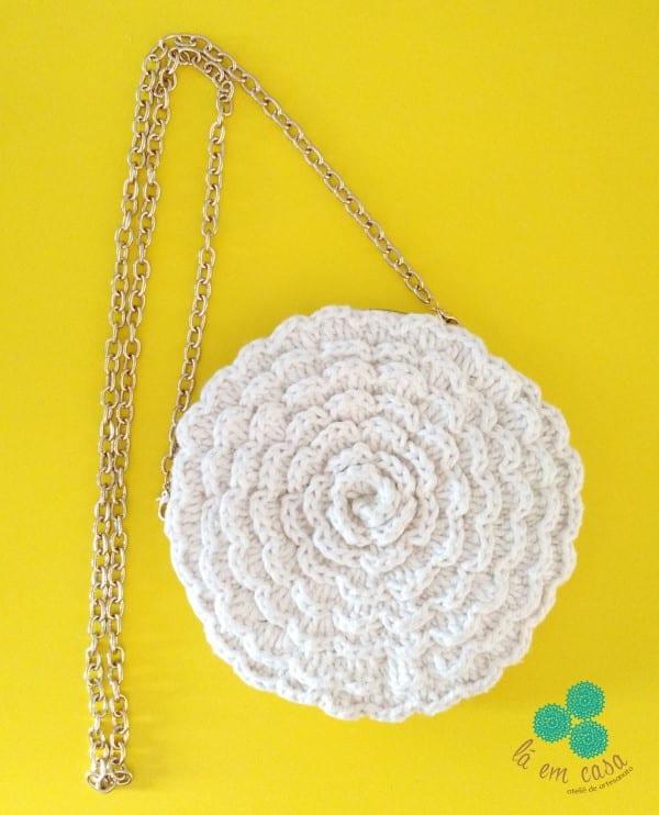 bolsa em formato de flor
