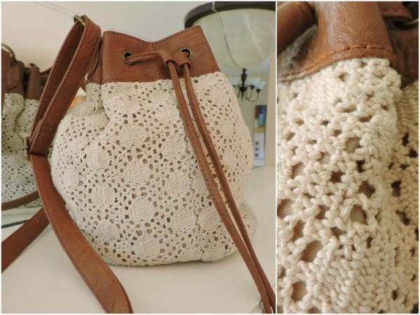 bolsa em formato de saco