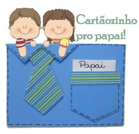 Cartão dia dos pais em EVA pode ter a cor que você quiser (Foto: sinimbu.com.br)