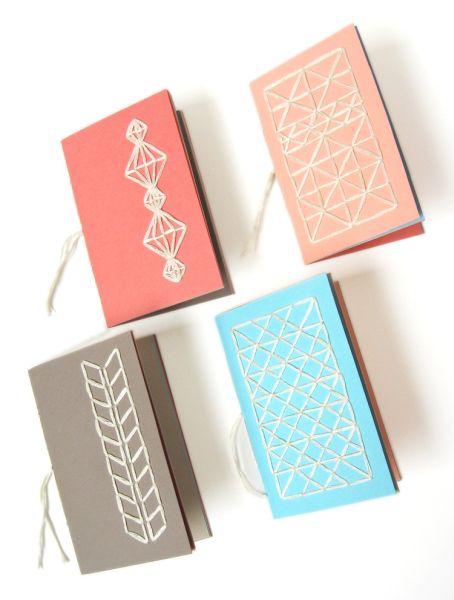 Capa de caderno com linhas é diferente e linda (Foto: howdidyoumakethis.com)