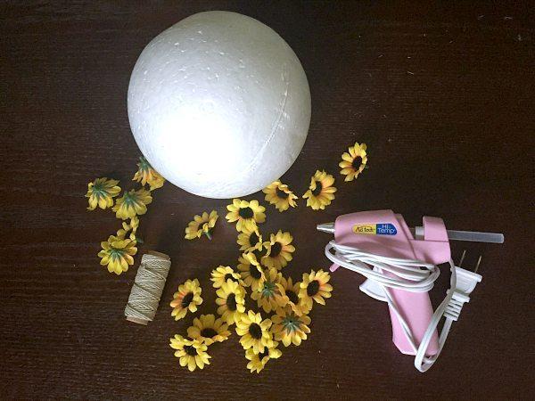 Como Fazer Decoraç u00e3o com Flores de Girassol -> Decoração De Girassol Para Aniversario