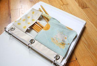 4ef58f5d9 Estojo para fichário é prático e útil (Foto: sewmamasew.com)