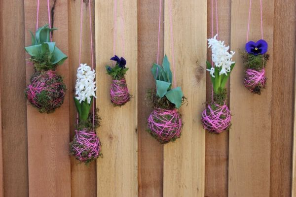 Montar um jardim suspenso é fácil e fica lindo (Foto: poppytalk.com)