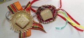 Este enfeite de cabelo para festa junina é delicado e lindo (Foto: sinimbu.com.br)