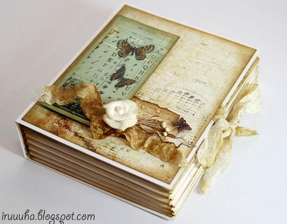 Esta caixa de presente vintage vai encantar profundamente quem for presenteado com ela (Foto: fabartdiy.com)
