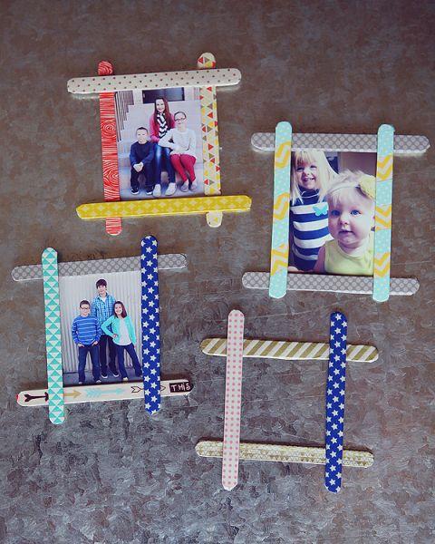 Ideias para fazer porta retrato de palito de picol for Porta kinder
