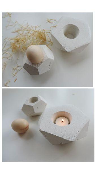 Este porta-velas de cimento é moderno, diferente e renova o décor de seu lar (Foto: arsprototo.at)