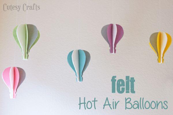 Balão de feltro é barato, mas enfeita de forma primorosa (Foto: cutesycrafts.com)