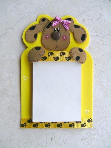 Bloquinho de anotações decorado com EVA é fofo e faz sempre muito sucesso onde parece (Foto: sinimbu.com.br)