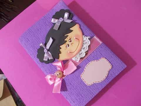 Capa de EVA para caderno pode ser feita para qualquer tamanho de caderno (Foto: Ateliê Edna Thomazini)