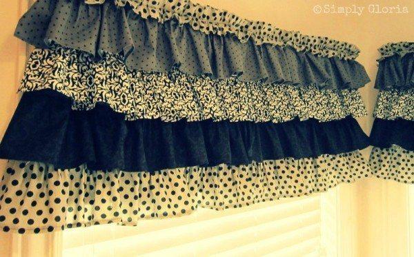 Cortina de babados é linda e você pode fazer em casa (Foto: simplygloria.com)