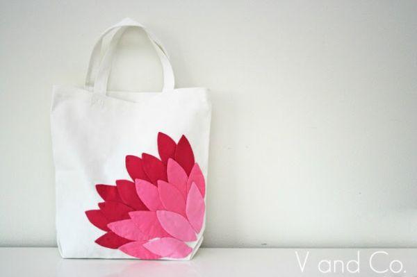 Ecobag decorada com tecido é linda e sustentável (Foto: vanessachristenson.com)