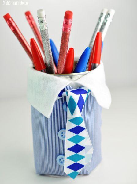 Faça também com seus alunos este presente barato e criativo para dia dos pais, se você for professora (Foto: club.chicacircle.com)