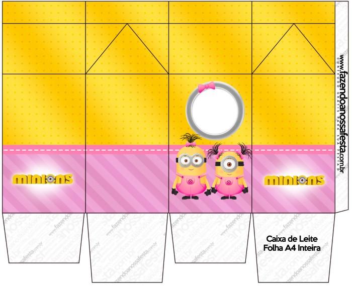molde dos minions para caixa de leite