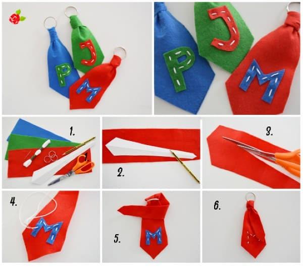 gravata de feltro