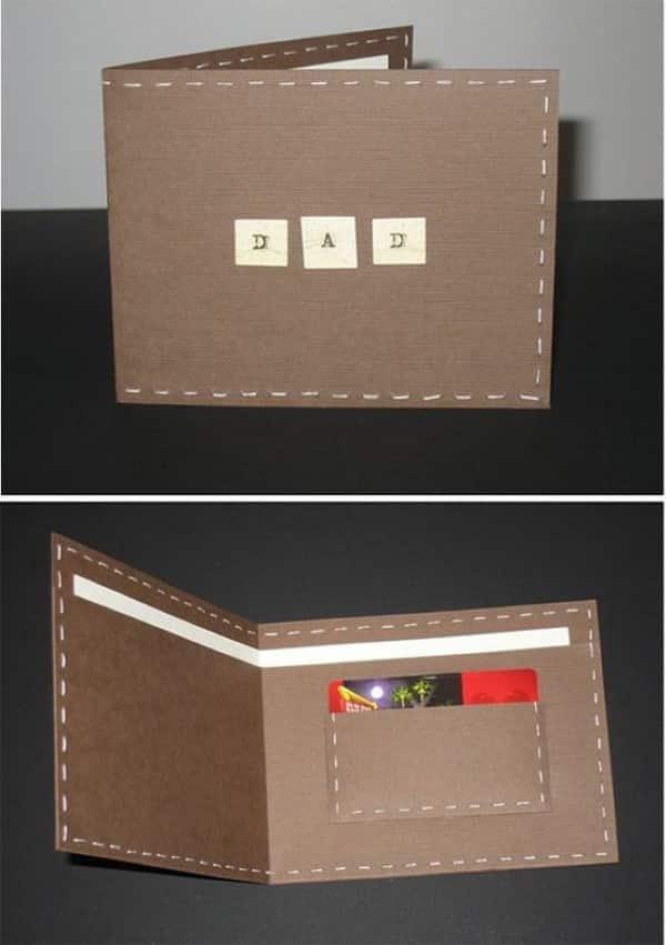 carteira de papel para o dia dos pais