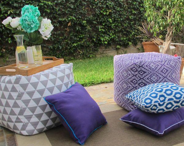 Almofada para área externa decora e deixa o espaço mais confortável (Foto: www2.fiskars.com)
